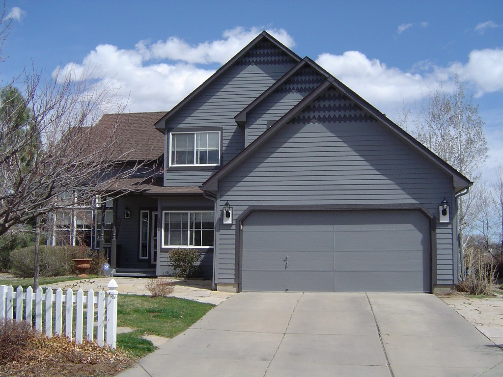 Beautiful exterior result before and after pictures for Light gray exterior paint