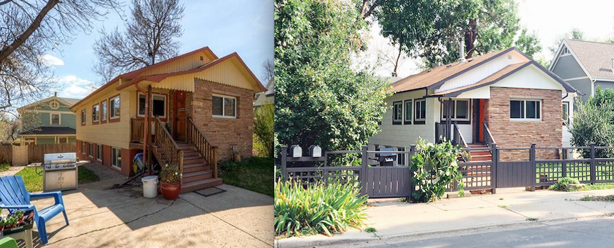 Before And After Of This Newly Purchased Rental Property