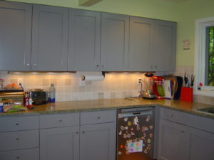 This Was An Awesome Projectu2013 Turning Stained And Clear Coated Full Set Of  Kitchen Cabinets To A Sweet Lacquer Finish.. The Owners Purchased The Home  Which ...